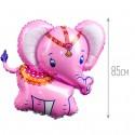 Шар Слоненок розовый 85см