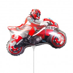 Мотоцикл красный 35см