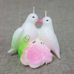 Свеча свадебная Голуби