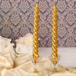 Набор свечей витых золотой 2шт
