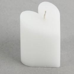 Свеча Сердце белая