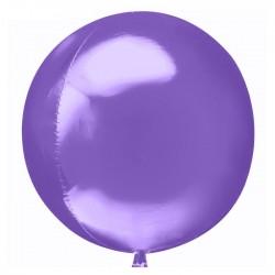 Шар полимерный Неон темно-фиолетовый 45см