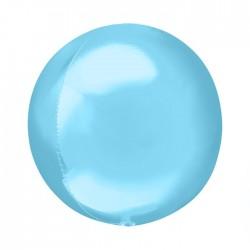 Шар полимерный Неон голубой 48см