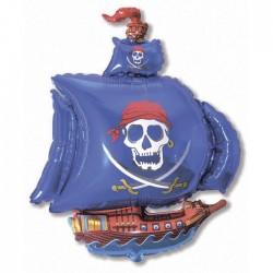 И 14 Пиратский корабль (синий) / Pirate Ship / 1 шт / (Испания)