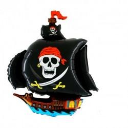 Пиратский корабль черный 39см