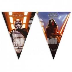 """P Гирлянда-вымпелы 2,3 м """"Звездные войны"""" / Star Wars The Force Awakens / 1 шт. / (Китай)"""