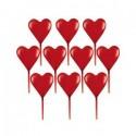 Шпажка пластиковая Сердце 7,6см 10шт