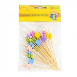 BA Шпажки для канапе бамбуковые Цветы 20шт