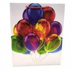 """Пакет подарочный """"Воздушные шары. Рисунок"""" / 26*32*12см (Китай)"""