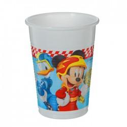 "P Стаканы пластиковые 200 мл ""Микки Маус Гонщик"" / Mickey Roadster / набор 8 шт. / (ЕС)"
