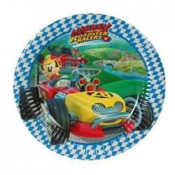"P Тарелки 20 см ""Микки Маус Гонщик"" / Mickey Roadster / набор 8 шт. / (ЕС)"