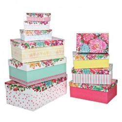 Коробка Цветы прямоугольник №3 16х10х5