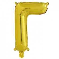 Шар с клапаном (16''/41 см) Буква, Г, Золото, 1 шт.