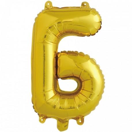 Шар с клапаном (16''/41 см) Буква, Б, Золото, 1 шт.