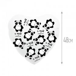 Шар Сердце Панда - я тебя люблю 48см