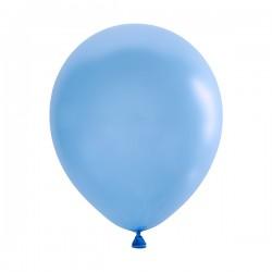 Шар голубой латексный пастель 13см 100шт