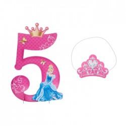 Цифра 5 для украшения Принцессы: Золушка 37,5см