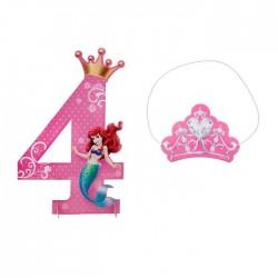 "Цифра для украшения праздника ""4"", Принцессы: Русалочка, 25,1 х 39 1546283"