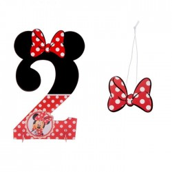 "Цифра для украшения праздника ""2"", Минни Маус, 24,6 х 38,9 см 1546280"