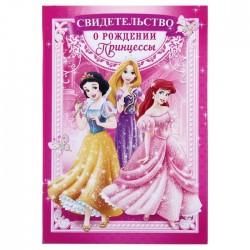 Обложка для документов розовая Принцессы 16,5х24см