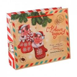 Пакет ламинат Новогодняя почта 14см