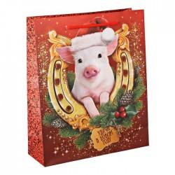 Пакет ламинат вертикальный «Удачи в Новом году», MS 18 х 23 х 8 см 3302528