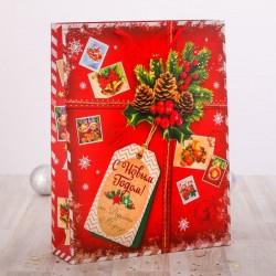 """Пакет ламинат вертикальный """"Подарок от Деда Мороза"""", 23 х27 х 8 см 2113805"""