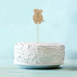 Топпер для торта Приношу любовь в 2019 со свиньей 8см