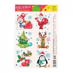 Декоративные наклейки Новогодние украшения 16×11см