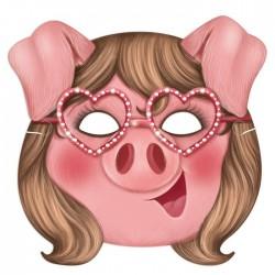 """Маска карнавальная """"Свинка в модных очках"""", 21,8 х 21,1 см 3417266"""