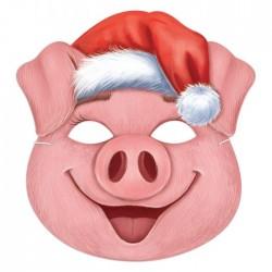 """Маска карнавальная """"Свинюшка рождественская"""", 20,2 х 21,2 см 3417263"""
