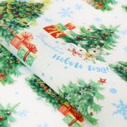 Бумага упаковочная тишью «Волшебного Нового года», 50 х 66 см 3469020