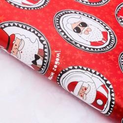 Бумага упаковочная глянцевая «Веселые Дед Морозы», 70 х 100 см 3685811