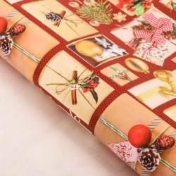 Бумага упаковочная глянцевая «Подарки под елкой», 70 х 100 см 3685809