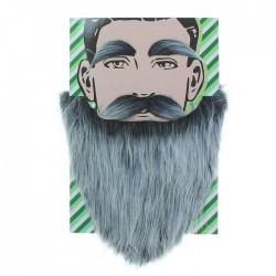 """Карнавальная борода """"Седая"""" с усами и бровями 2277523"""