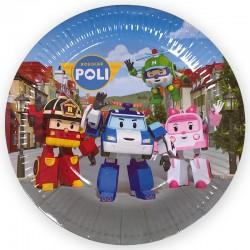 Набор тарелок Робокар Поли 18см 6шт