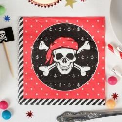 Cалфетки Пират 25см 20шт