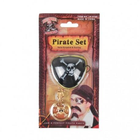 """Набор """"Пирата"""", 2 предмета: клипса, наглазник 888666"""