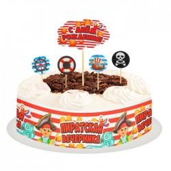 Набор для украшения торта Пиратская вечеринка 12×2×19см