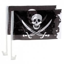 Флаг автомобильный Пират 34х40см 2шт