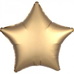 Шар Звезда золотой Сатин Люкс 46см