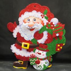 Панно Дед Мороз 40х31см 141-607М
