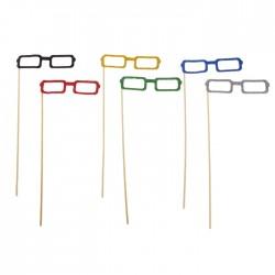 """Аксессуары для фотосессии на палочке очки """"Квадратные"""", цвета МИКС 301826"""