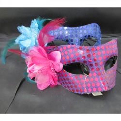 Маска венецианская розово-голубая