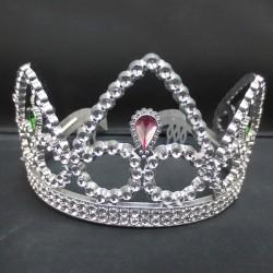 Корона королевы с розовым камнем