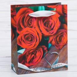 Пакет ламинированный От всего сердца 18×23см