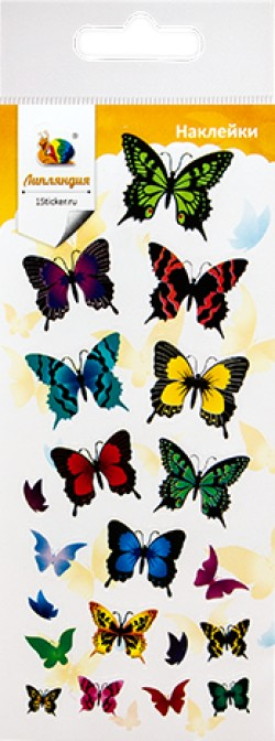 Наклейка дек бумаж Бабочки 1 70*160