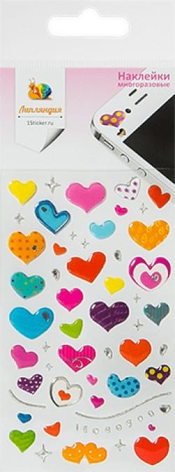 Наклейка дек леденц 2 Сердца 1 70*160
