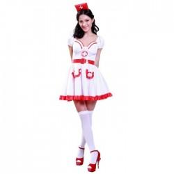 """Костюм """"Медсестра"""" (головной убор, платье, пояс) размер 44 Взрослый (Китай)"""
