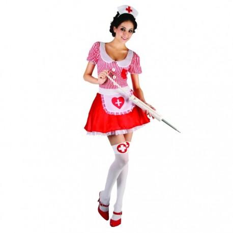 """Карнавальный костюм для взрослых """"Медсестричка"""" (платье, шапочка, размер М-L 44-48) 326324"""